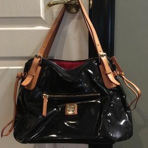 Dooney & Bourke black patent satchel